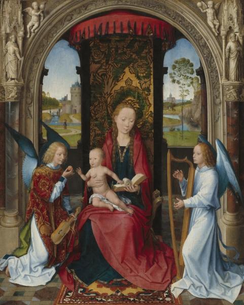 Мадонна с младенцем и ангелами