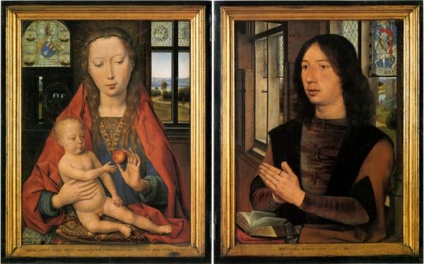 Диптих Богоматерь с младенцем и донатор