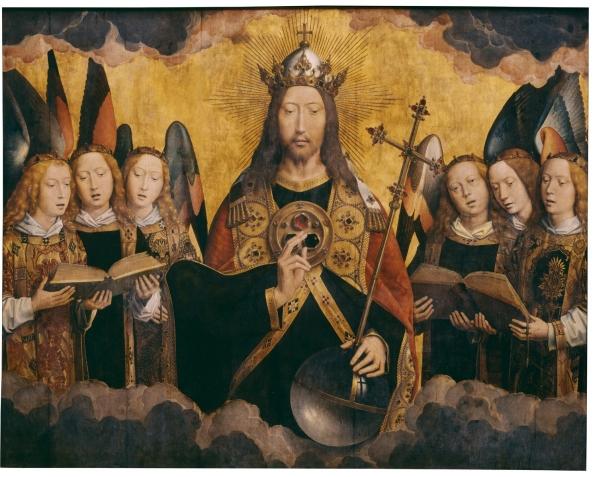 Христос с поющими и музицирующими ангелами