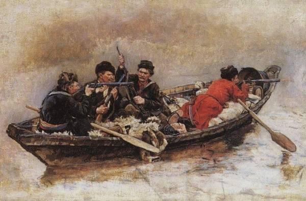 Казаки в лодки