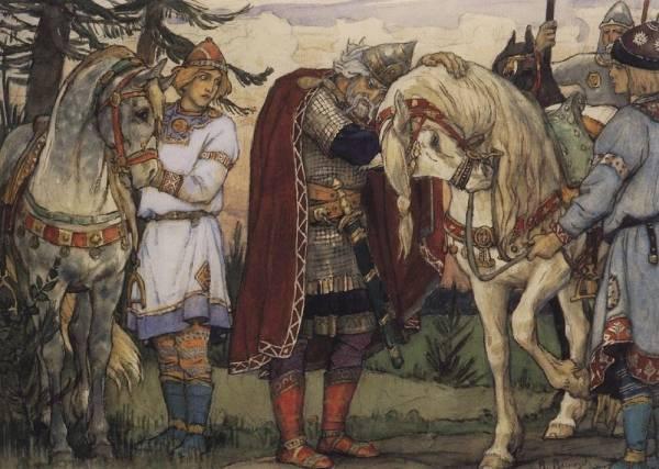 Прощание Олега с конем. 1899
