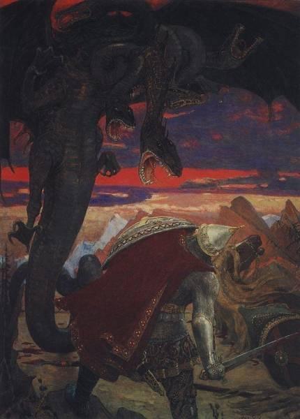 Бой Добрыни Никитича с семиглавым Змеем Горынычем. 1913-1918