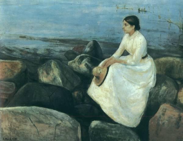 Edvard Munch 1889 Nuit d ete