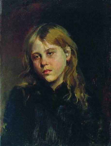 Портрет задумавшейся девушки. 1880