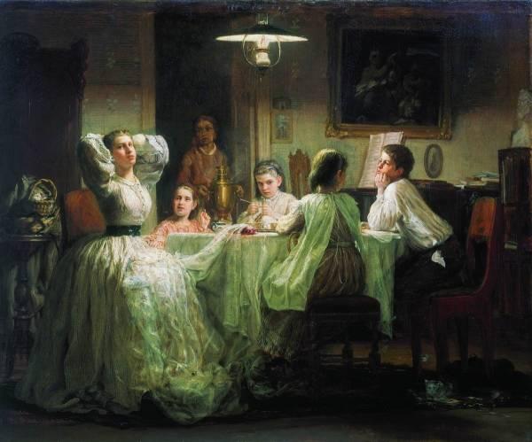 Шитье приданого. 1866