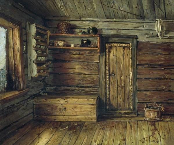 Внутренний вид избы. 1869