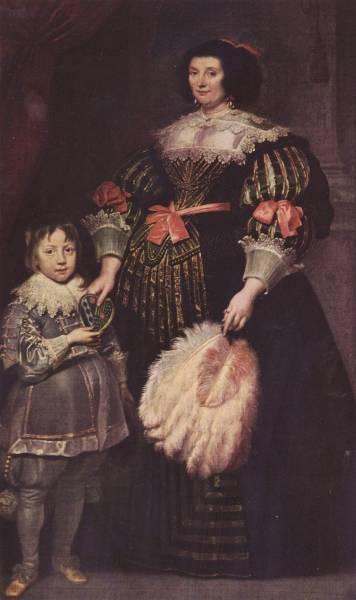Portrat-der-Charlotte-Butkens-Herrin-von-Anoy-mit-ihrem-Sohn