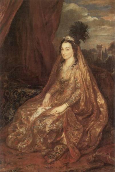Portrat-der-Elisabeth-oder-Theresia-Shirley-in-orientalischer-Kleidung