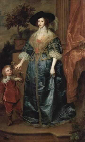 Portrat-der-Konigin-Henrietta-Maria-mit-Zwerg-Sir-Jeffrey-Hudson