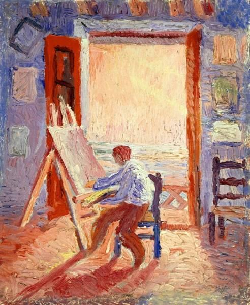 1919 (ок.) Автопортрет в мастерской