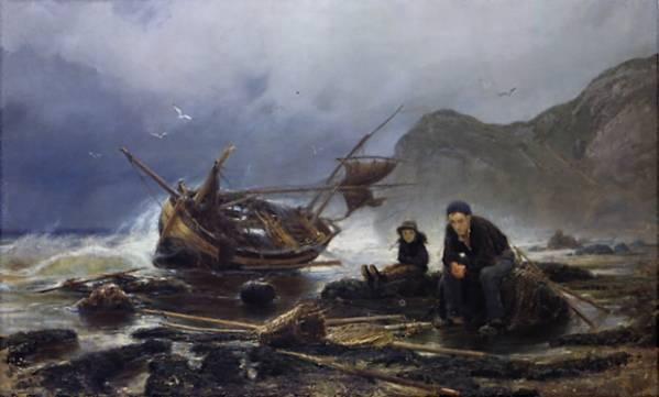 Море в Нормандии. 1875 (Рыбак в беде)