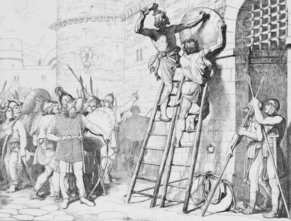 Князь Олег прибивает щит свой к вратам Цареграда