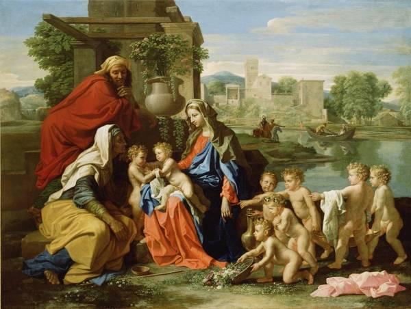 Святое семейство со св.Елизаветой и юным Иоанном Крестителем (1651)