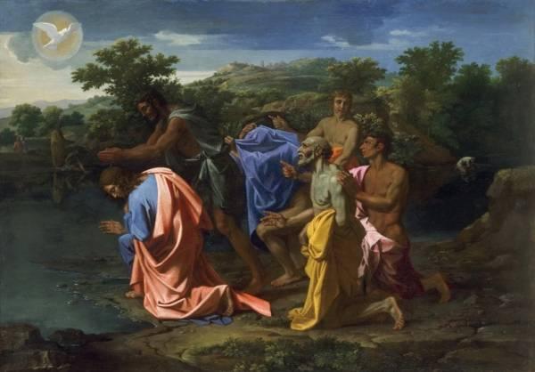 Крещение Христа (ок.1658) (96.2 х 135.6) (Филадельфия, Музей искусства)