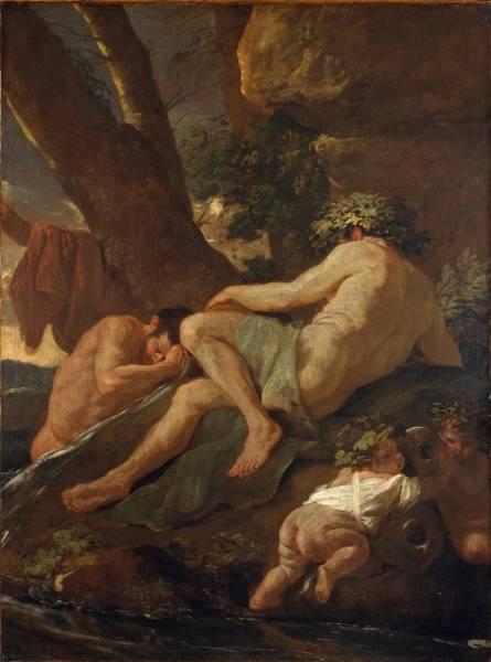 Мидас, купающийся в реке Пактоле (ок.1627) (97 х 72) (Нью-Йорк, Метрополитен)