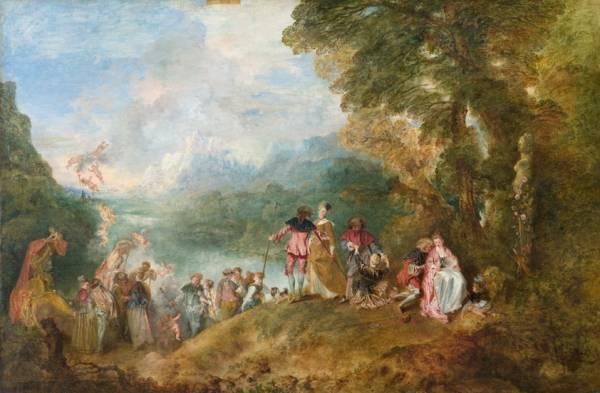 Паломничество на остров Киферу (1717) (129 х 194) (Париж, Лувр)