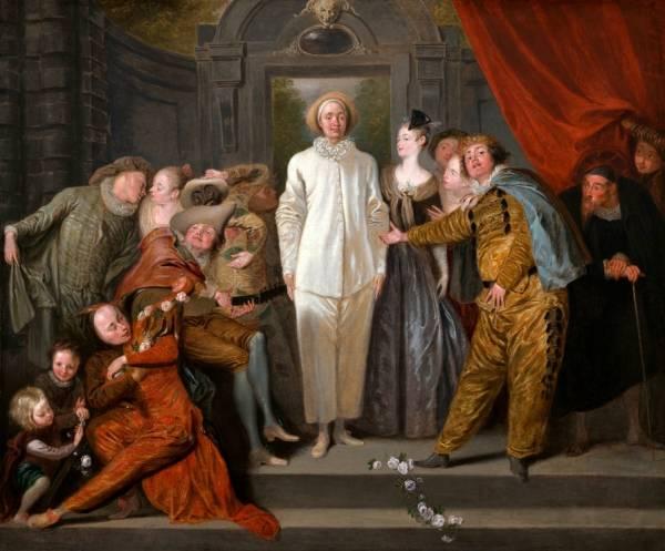 Итальянские комедианты (ок.1720) (63.8 х 76.2) (Вашингтон, Нац. галерея)