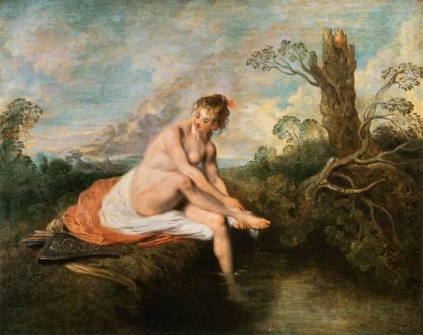 Купание Дианы (1515-1516) (80 х 101) (Париж, Лувр).