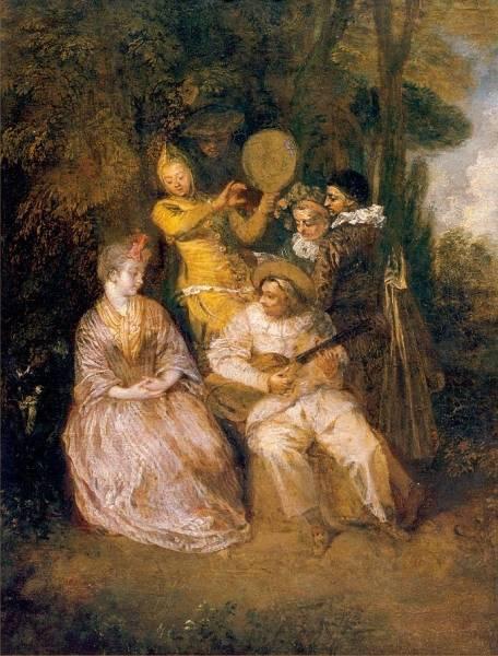 Итальянская серенада (1718) (Стокгольм, Нац. музей)