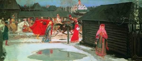 Свадебный поезд в Москве (XVII столетие)