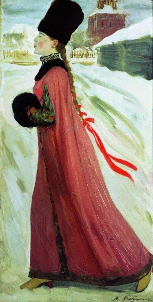 Московская девушка XVII века. 1903