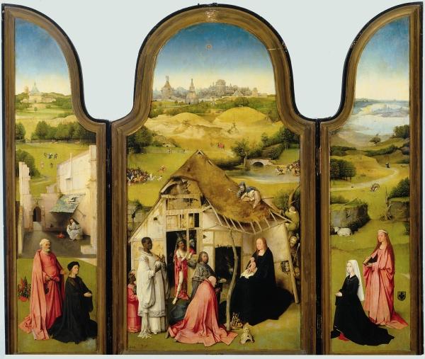 Триптих Поклонение волхвов' (открыт) (ок.1510) (138 x 138)