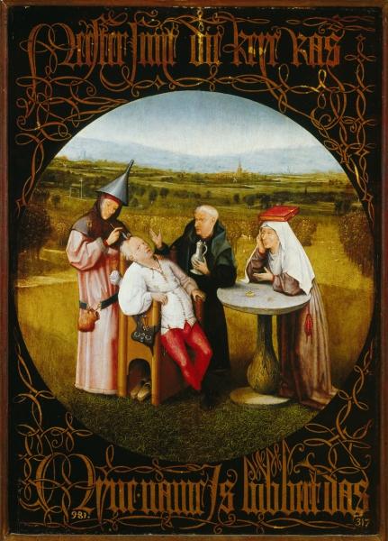 4.Извлечение камня глупости (между 1488 и 1516) (47.5 х 34.5) (Мадрид, Прадо)