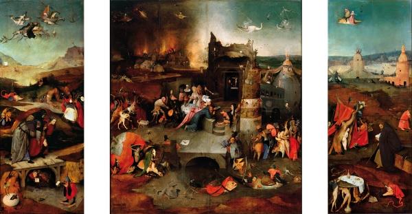 Триптих 'Искушение св.Антония' (между 1495 и 1515) (131 х 238) (Лиссабон, Нац. музей старого иск.