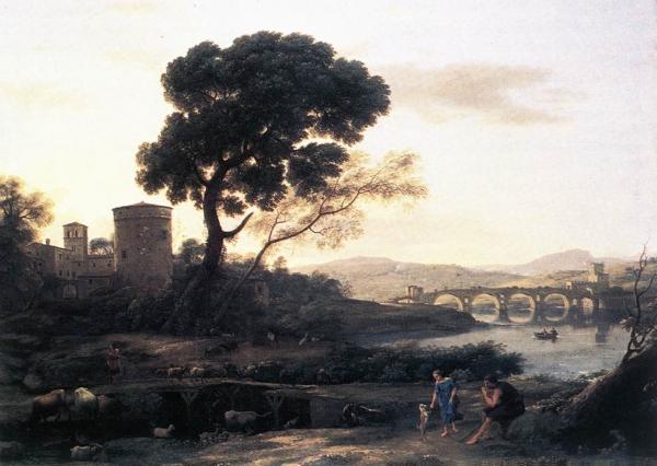 Пейзаж с пастухами Понт Молле