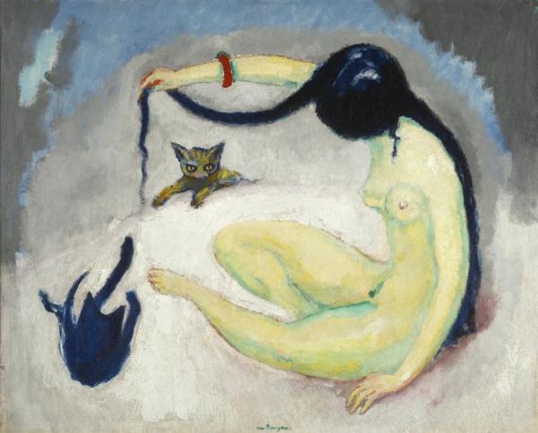 Женщина с кошками