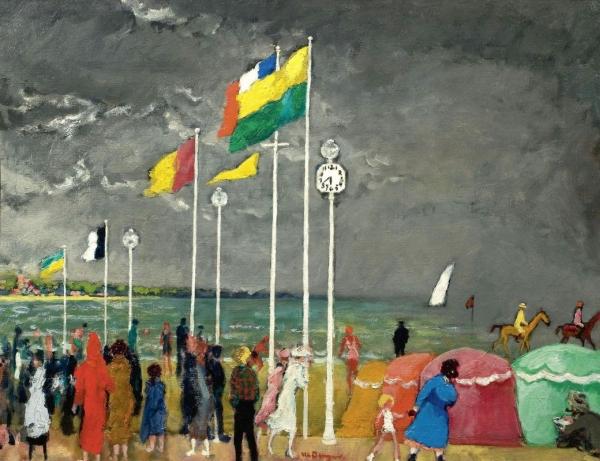 Часы на пляже Довиля