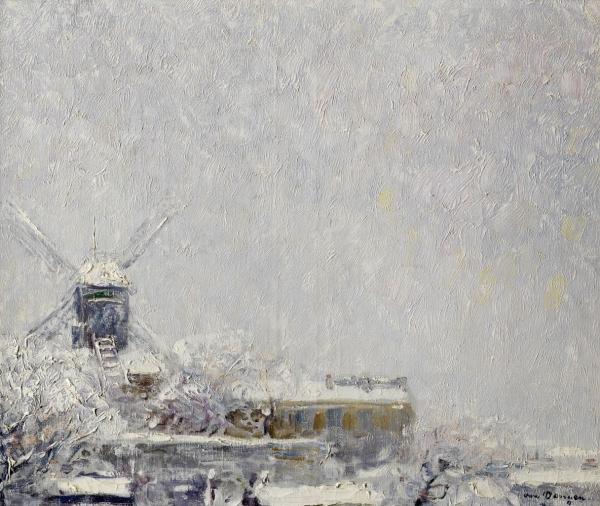 Мулен де ла Галетт под снегом