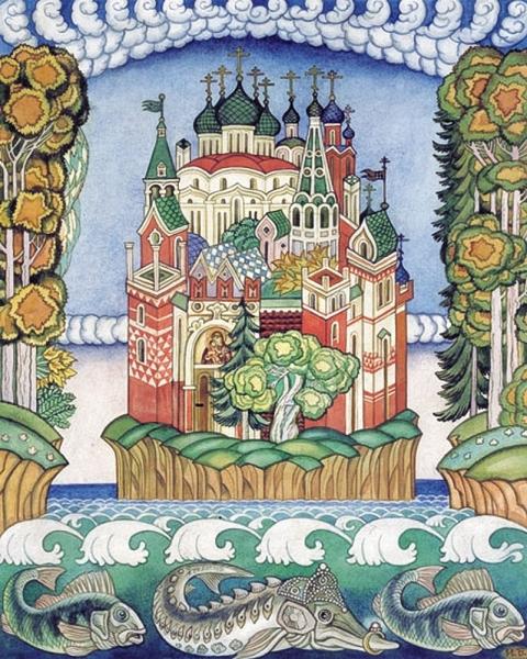 Град Китеж иллюстрация к былине