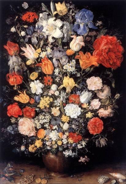 Ваза Цветов с драгоценностями, монетами и раковинами, 1606