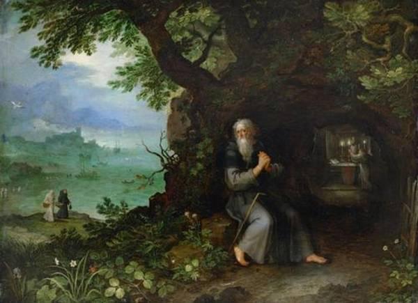 Пейзаж со святым , 1595