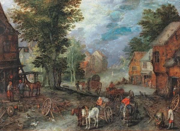 Пейзаж с кузницей, 1603