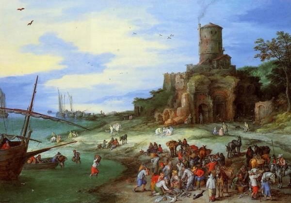 Прибрежный пейзаж с могилой Сципиона