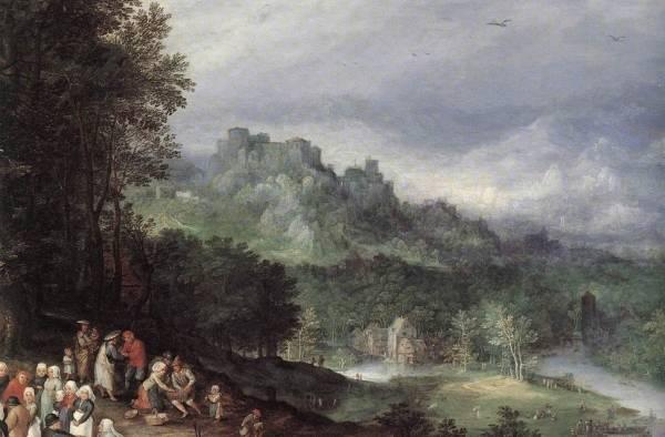 Фламандская ярмарка, деталь, 1610