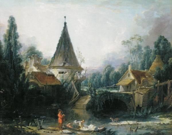 Пейзаж в окрестностях Бовэ, 1740-1745