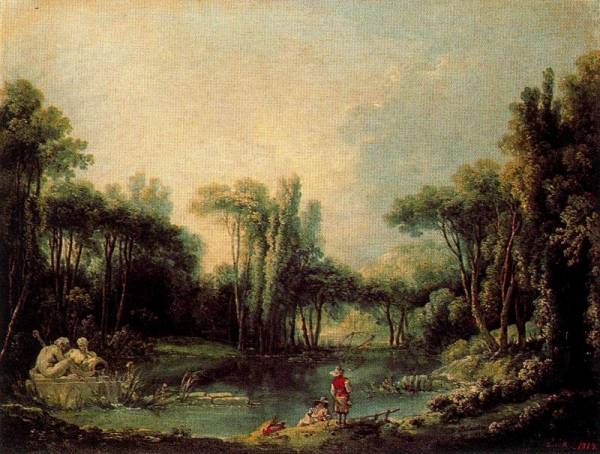 Пейзаж с прудом, 1746