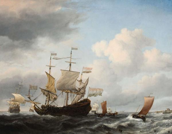 Голландский флагман становится на якорь
