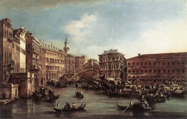The Rialto Bridge with the Palazzo dei Camerlenghi