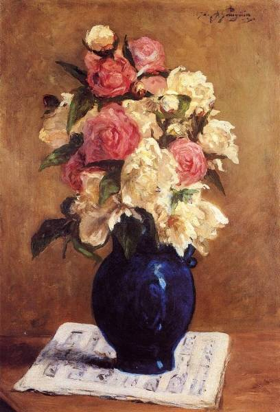 Boquet of Peonies on a Musical Score
