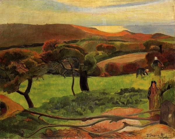 Breton Landscape - Fields by the Sea