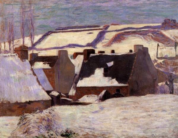 Pont-Aven in the Snow