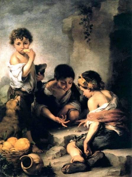 Дети, играющие в кости