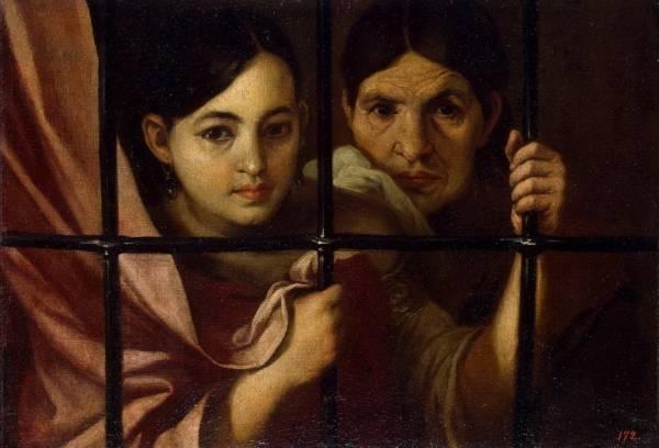 Две женщины за решеткой,