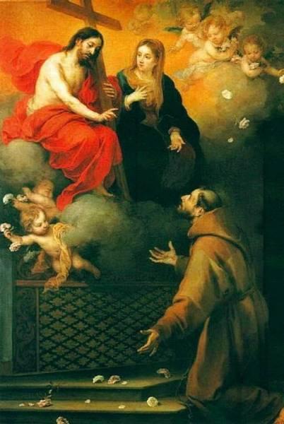Видение Святого Франциска, 1667-70