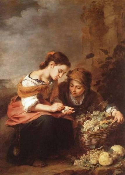 Маленький продавец фруктов