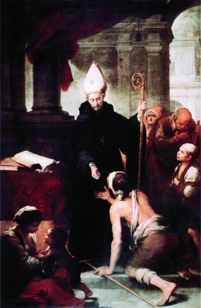 Святой Фома Вильянуэва, раздающий милостыню